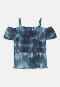 Abercrombie & Fitch - SMOCKED WAIST - Top - blue - 1