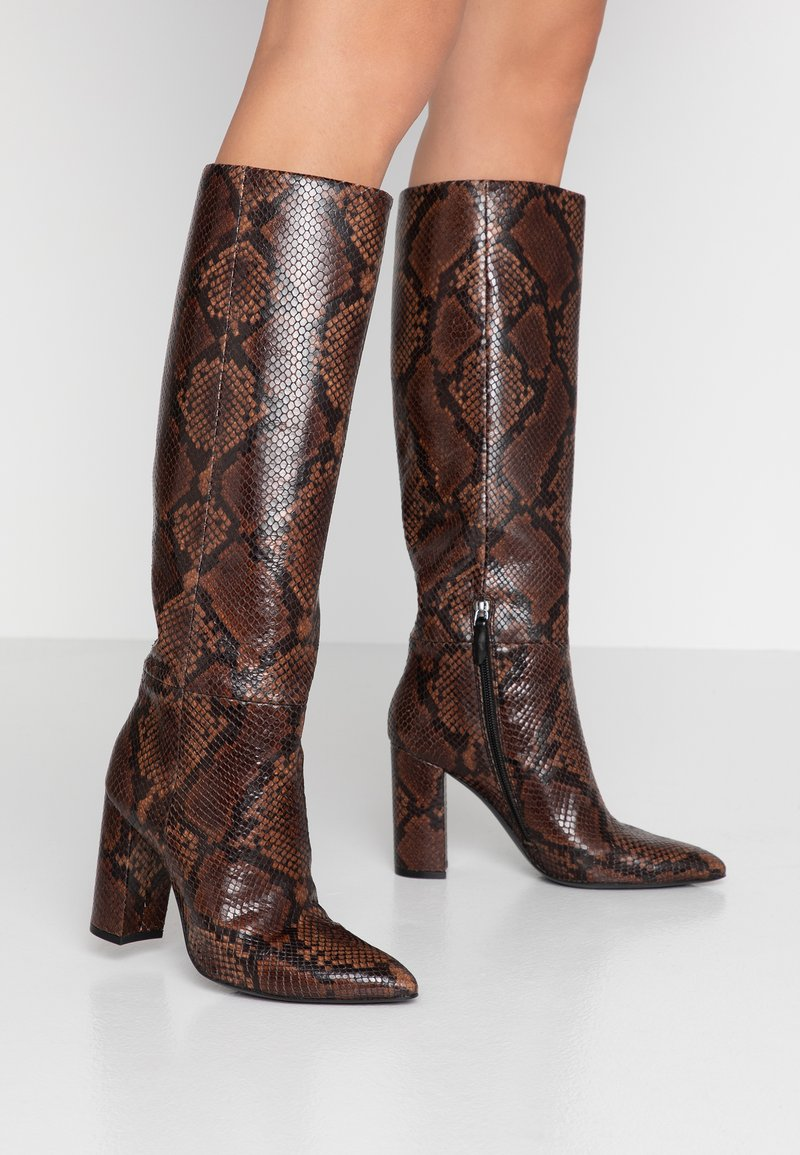 Bruno Premi - High heeled boots - teak