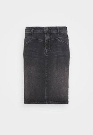 HADLEY SKIRT - Pencil skirt - black washed denim