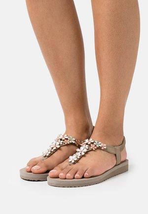 MEDITATION - T-bar sandals - taupe