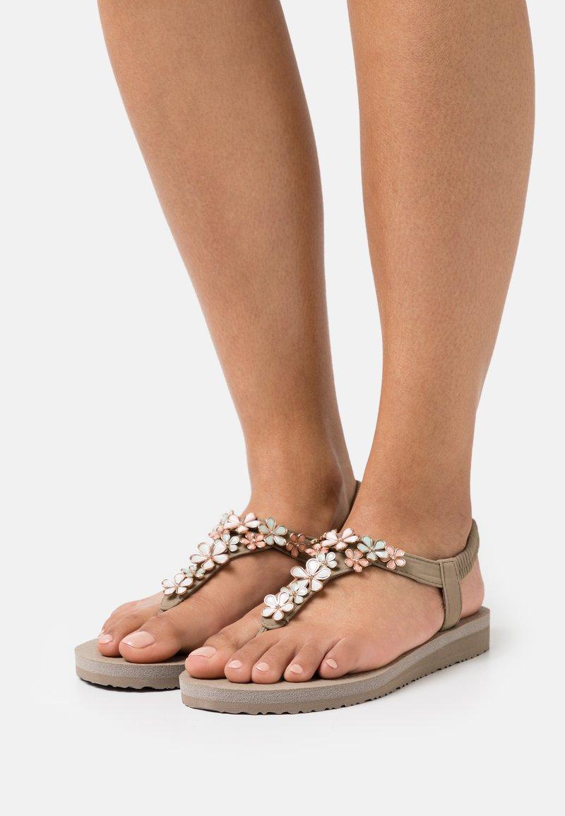 Skechers - MEDITATION - T-bar sandals - taupe