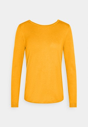 BASIC NECK - Jumper - brass yellow