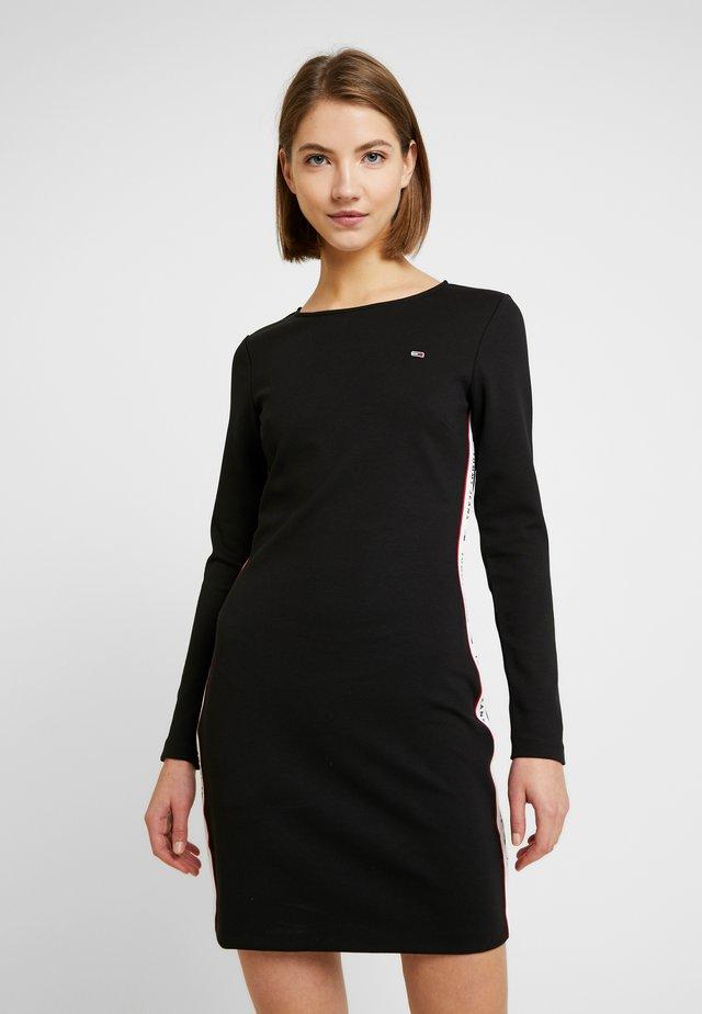 TJW TAPE DETAIL BODYCON DRESS - Sukienka etui - tommy black