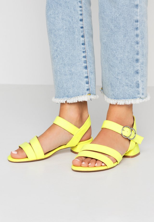 MARIA WIDE FIT - Sandals - acid yellow