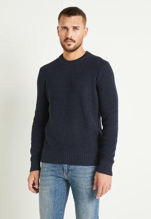 OLIVER  - Stickad tröja - navy melange