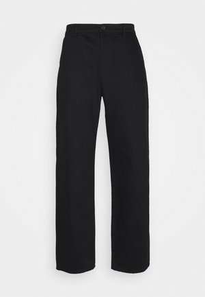 Byron Denton x NU-IN RELAXED FIT TAPERED PANTS - Vaqueros boyfriend - black