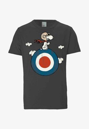 Print T-shirt - dunkelgrau
