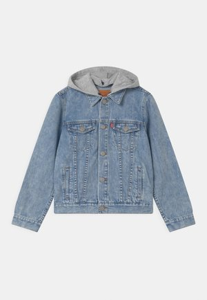 HOODED TRUCKER - Denim jacket - decade bloom