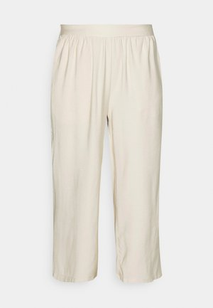 Cropped wide leg trouser - Trousers - off white