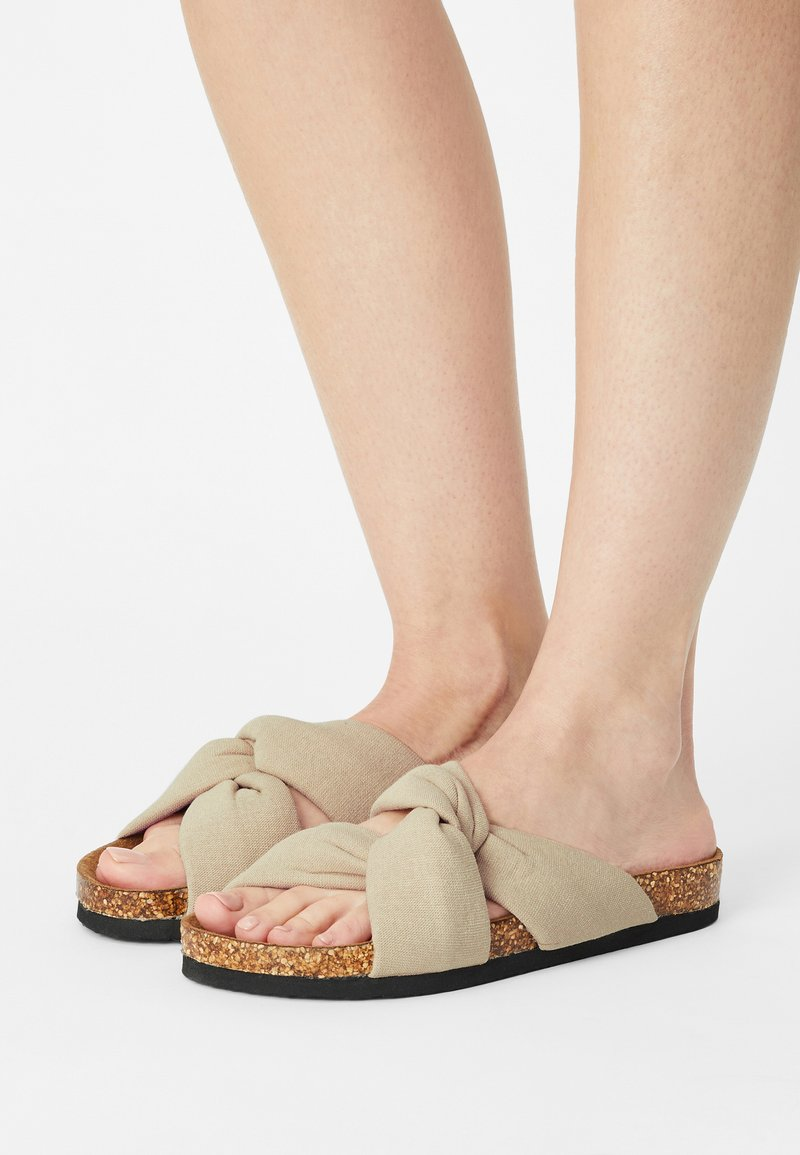 ONLY SHOES - ONLMAXI CROSSOVER - Mules - beige