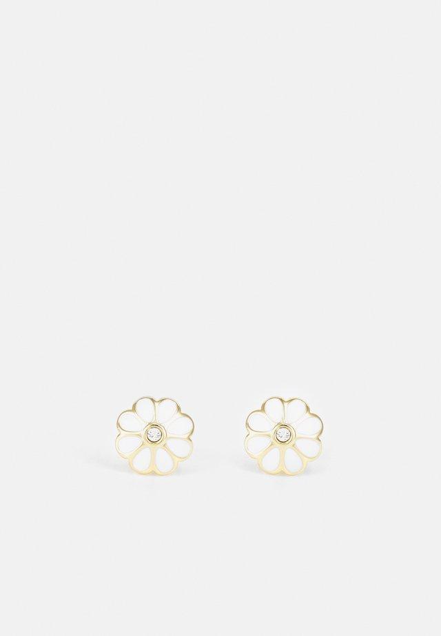 DARAEH DAISY STUD EARRINGS - Örhänge - gold-coloured/white