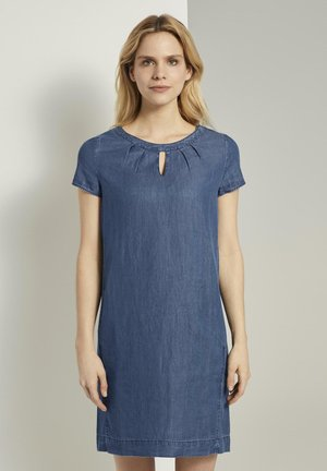 DRESS - Denim dress - blue denim