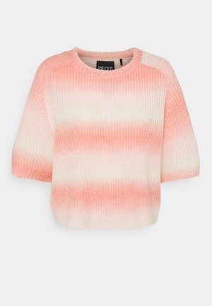 PCGOYA ONECK KNIT - T-shirt print - deep sea coral/birch