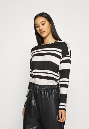 ONLELCOS STRIPES - Long sleeved top - cloud dancer