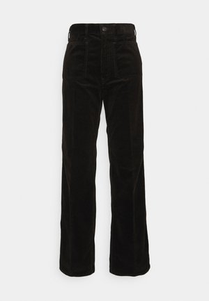JEN FULL LENGTH FLAT FRONT - Trousers - antique brown
