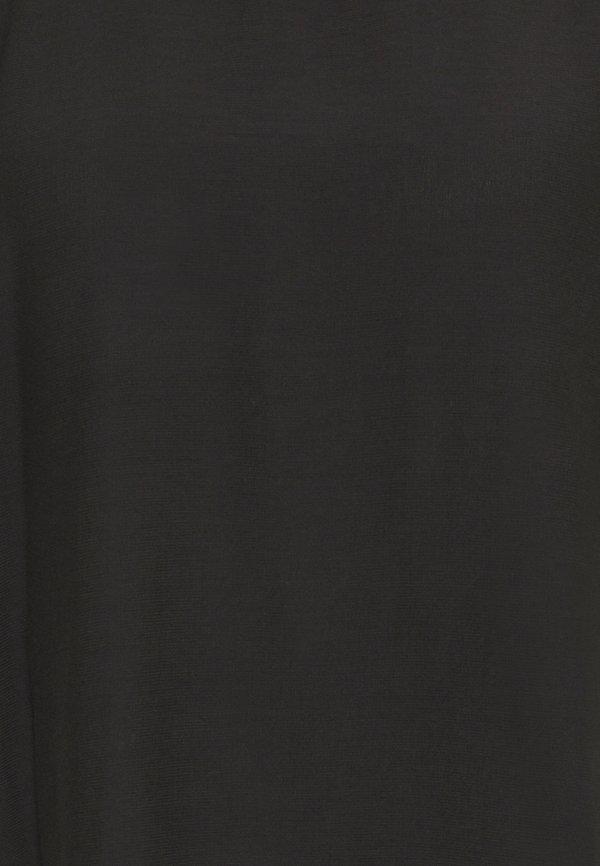 Culture JEANELLE CAPSLEEVE - Bluzka - black/czarny SAQD