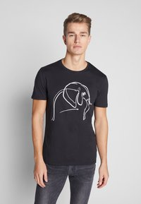 Pier One - T-shirt med print - black - 0