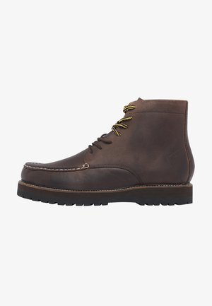 Lace-up ankle boots - chocolate brown