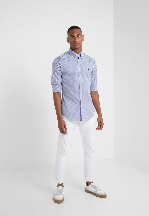 Polo Ralph Lauren NATURAL SLIM FIT - Koszula - blue/white bengal/granatowy Odzież Męska BAQD