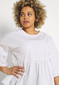 Simply Be - SLEEVE SMOCK - Camicetta - white - 3