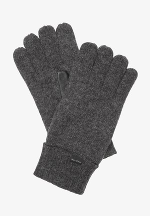 Gloves - dark grey melange