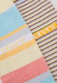 Levi's® - REGULAR CUT MICRO STRIPE 2 PACK - Socks - orange/blue/white - 1