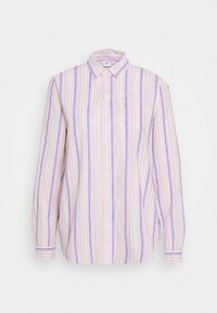 Button-down blouse - blue/pink