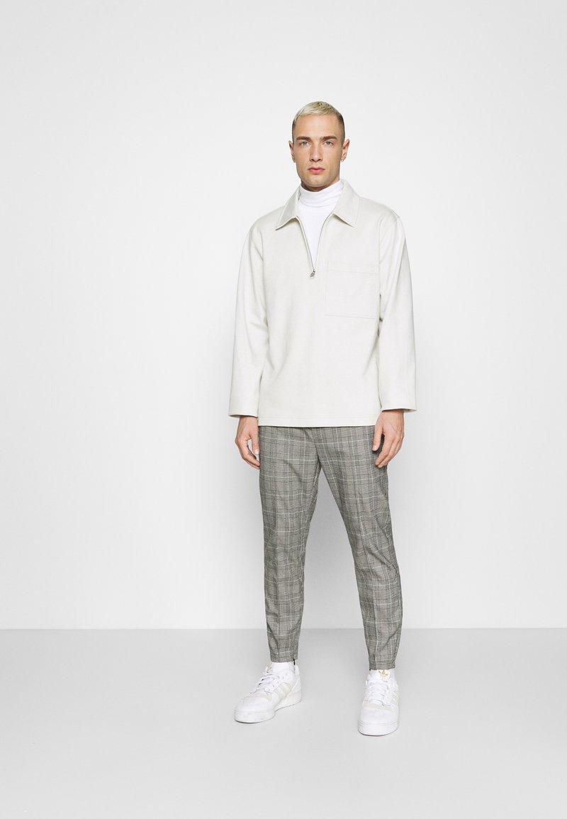 Topman - ROLL NECK 2 PACK - Long sleeved top - black/white