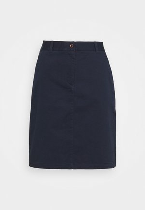 SLIM CLASSIC SKIRT - Mini skirt - marine