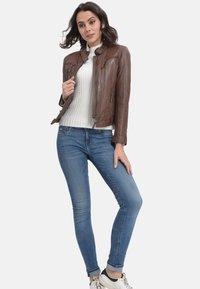 Oakwood - HOLA - Leather jacket - camel - 1