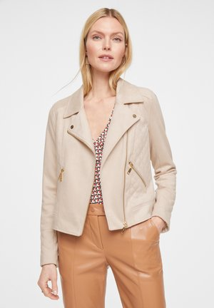 Faux leather jacket - sand