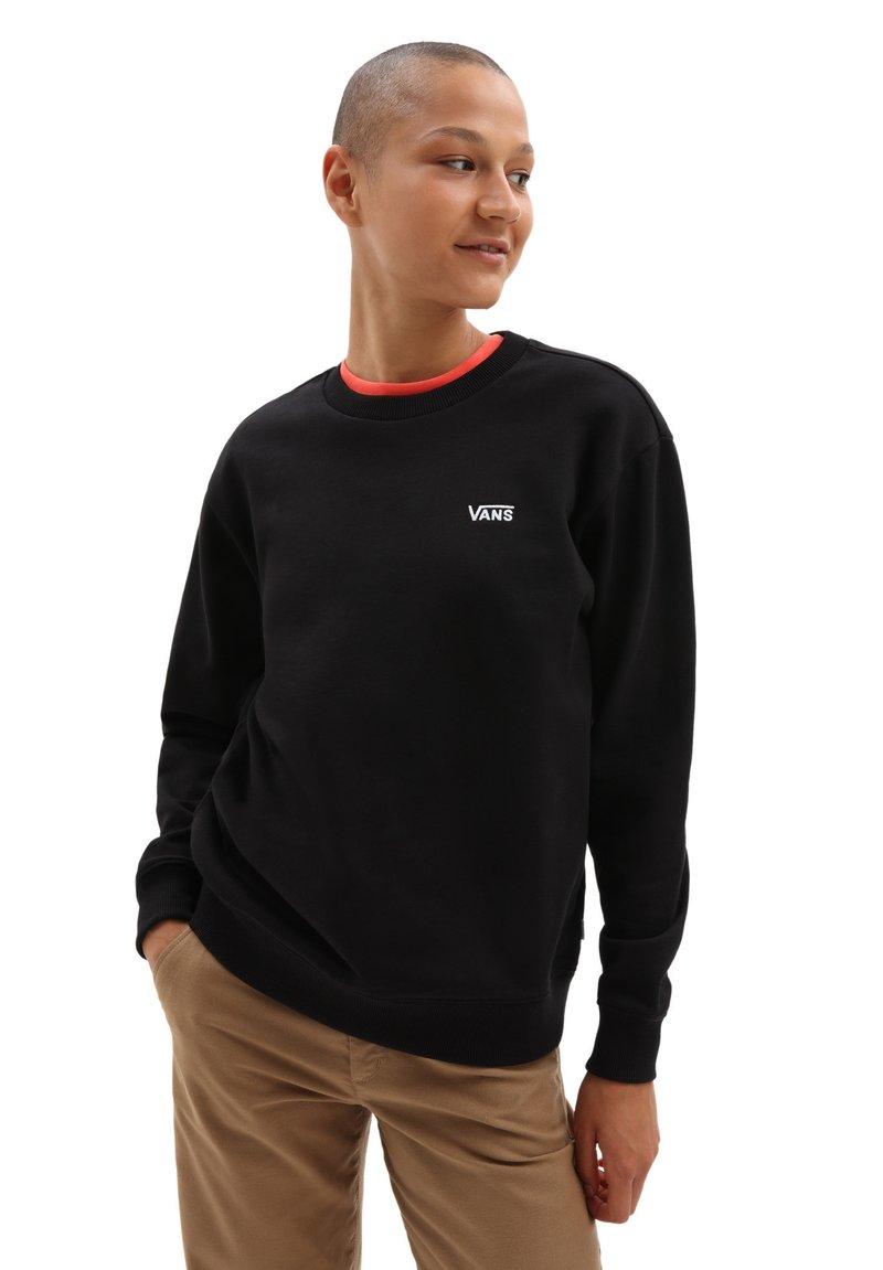 Vans - WM FLYING V BFF FT CREW - Sweater - black
