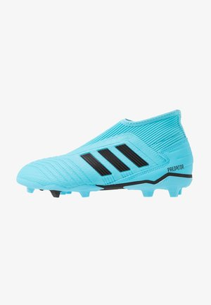 PREDATOR 19.3 FG - Moulded stud football boots - bright cyan/core black/solar yellow