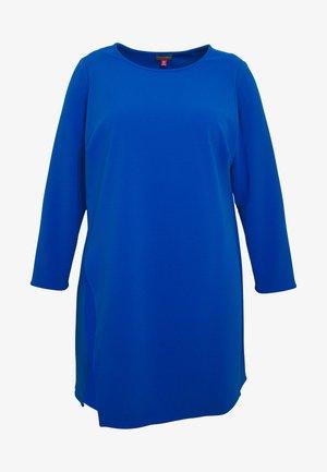 SIDE SLIT CREPE PONTE - Long sleeved top - blue