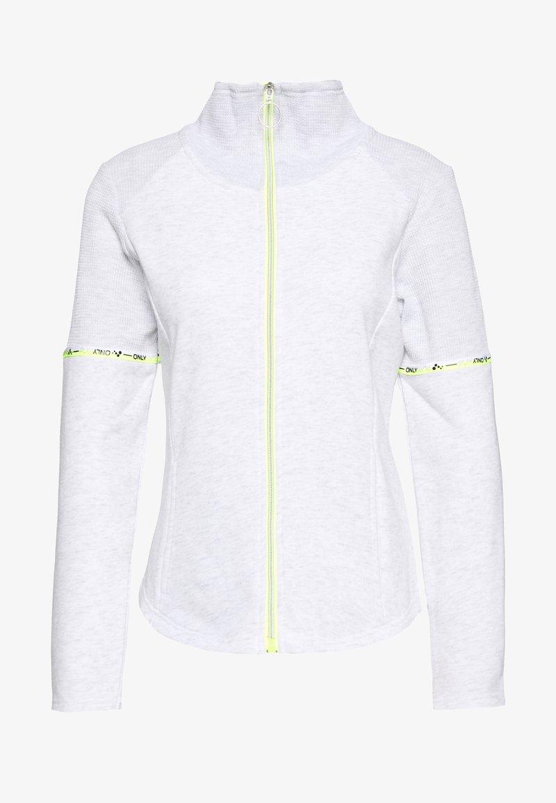 ONLY PLAY Petite - ONPALYSSA ZIP PETITE - Collegetakki - white melange/saftey yellow