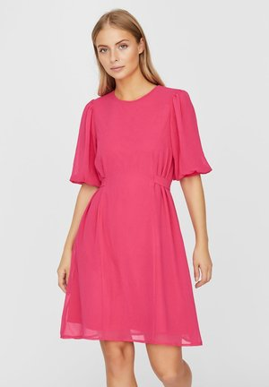 VMVIVIKA 24 SHORT DRESS - Day dress - pink peacock