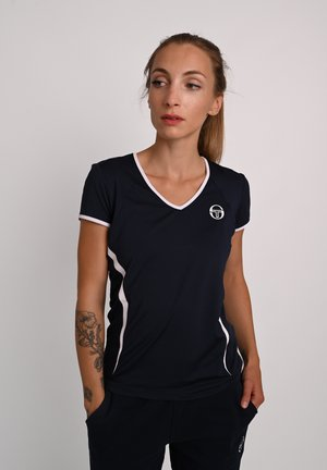 T-SHIRT EVA  - Print T-shirt - navy/white