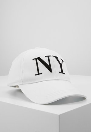 EMBROYDERED - Cap - white