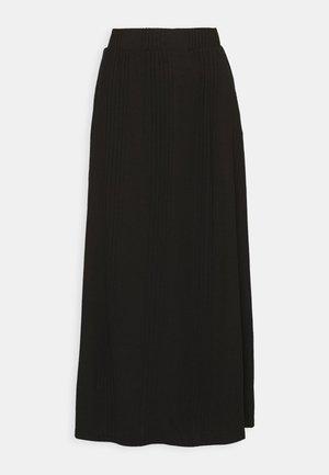 OBJCELIA LONG SKIRT TALL - Maxi skirt - black