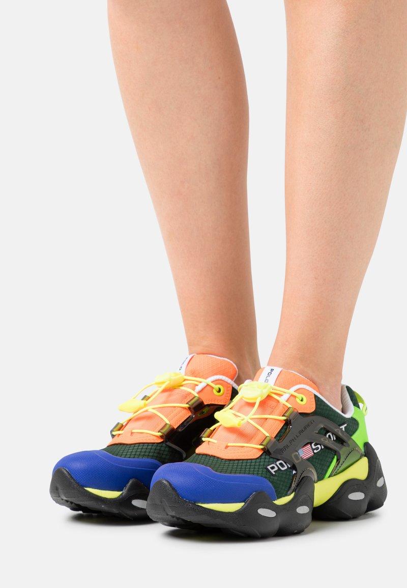 Polo Ralph Lauren - TECH TOP LACE - Sneakers basse - black/multicolor