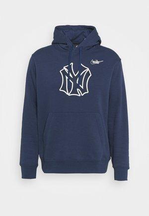 MLB NEW YORK YANKEES COOPERSTOWN LOGO CLUB HOODIE - Sweater - midnight navy