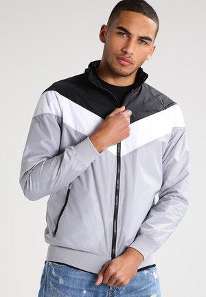 Träningsjacka - grey/black/white