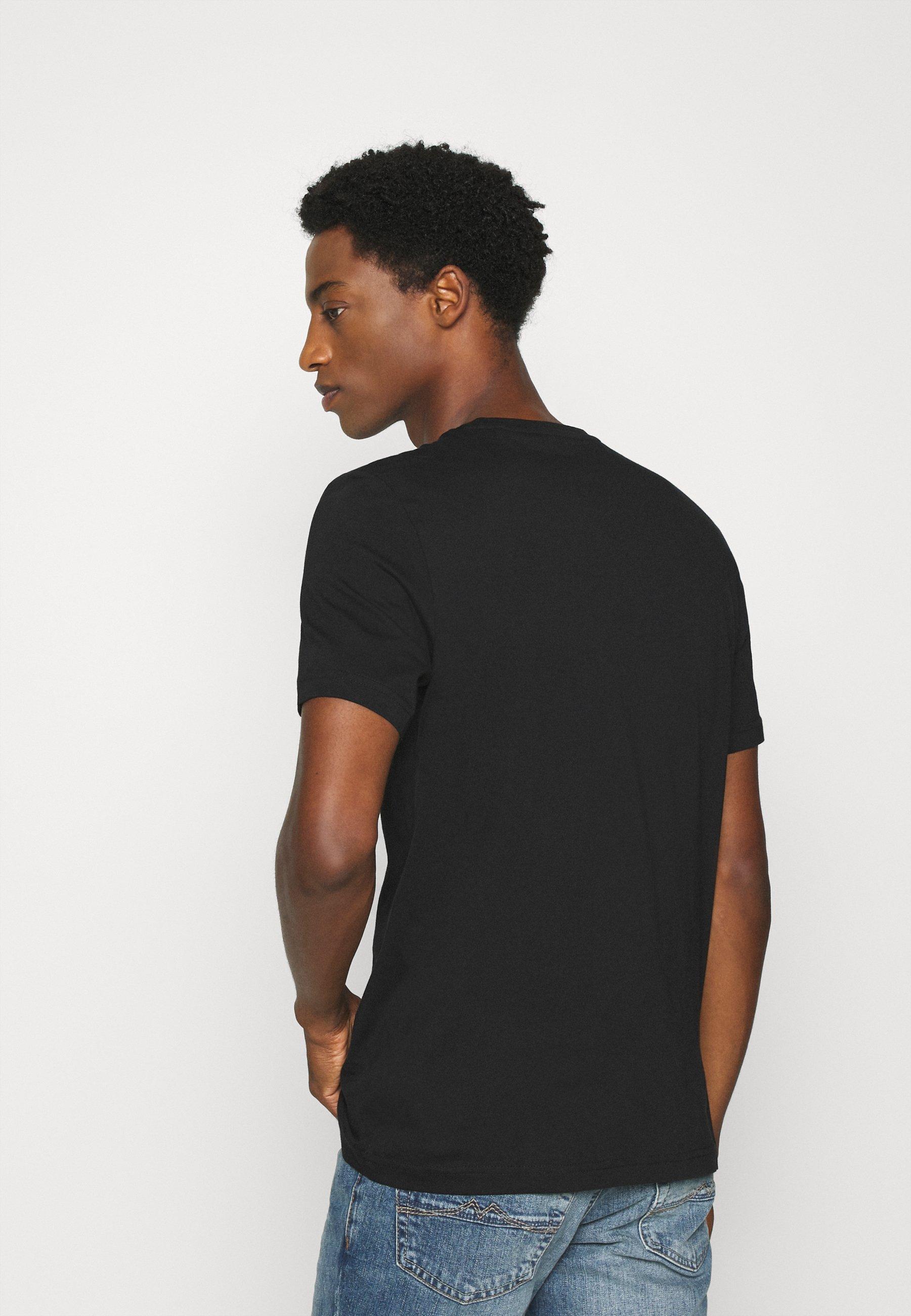 Mustang ALEX LOGO TEE - Print T-shirt - black Wahx3