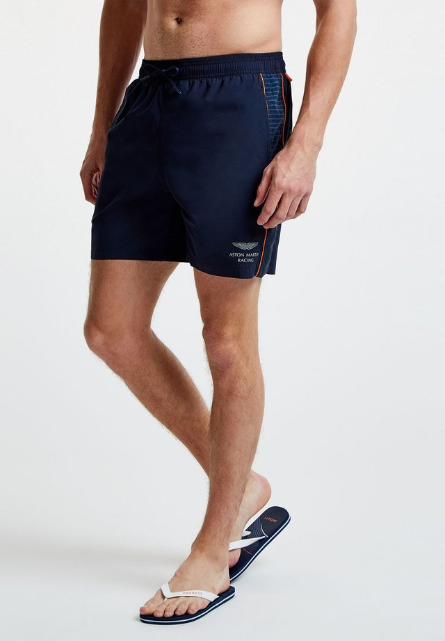 AMR PRINT - Swimming shorts - navy