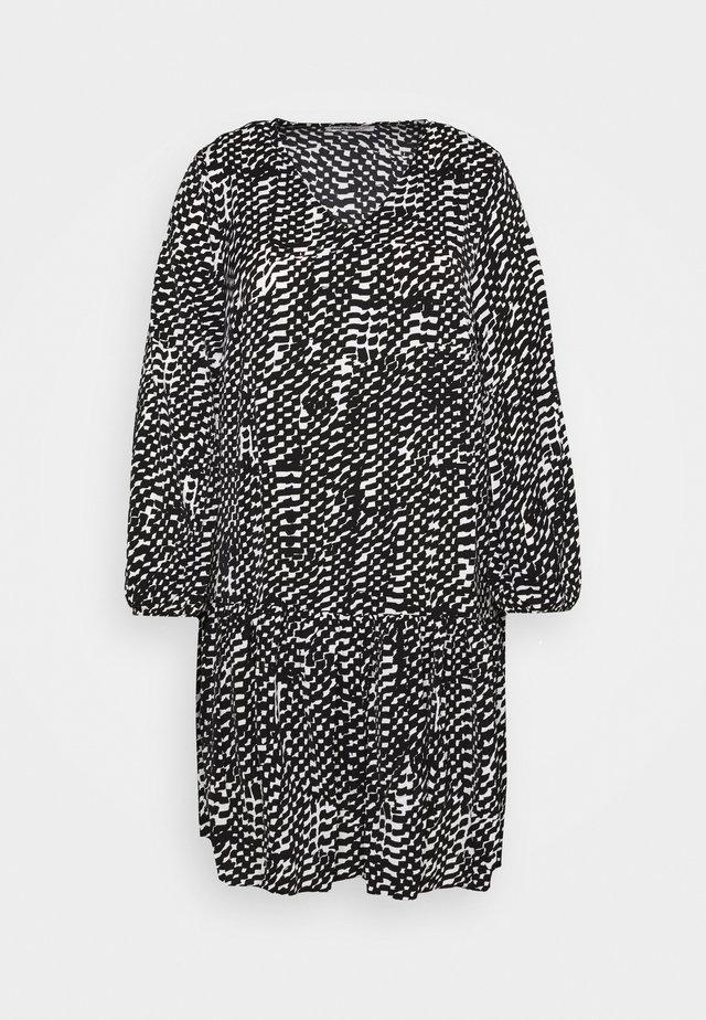 VNECK SMOCK DRESS - Korte jurk - mono brushstroke