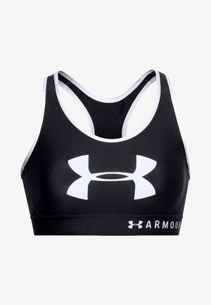 MID KEYHOLE GRAPHIC - High support sports bra - black
