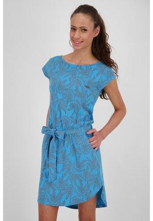 Jersey dress - cobalt