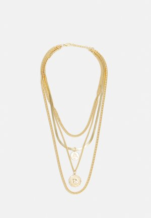 FLAT LAYERING NECKLACE UNISEX - Necklace - gold-coloured