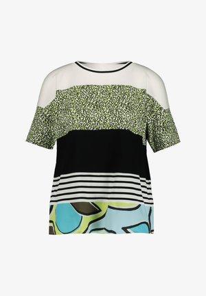 Print T-shirt - aqua