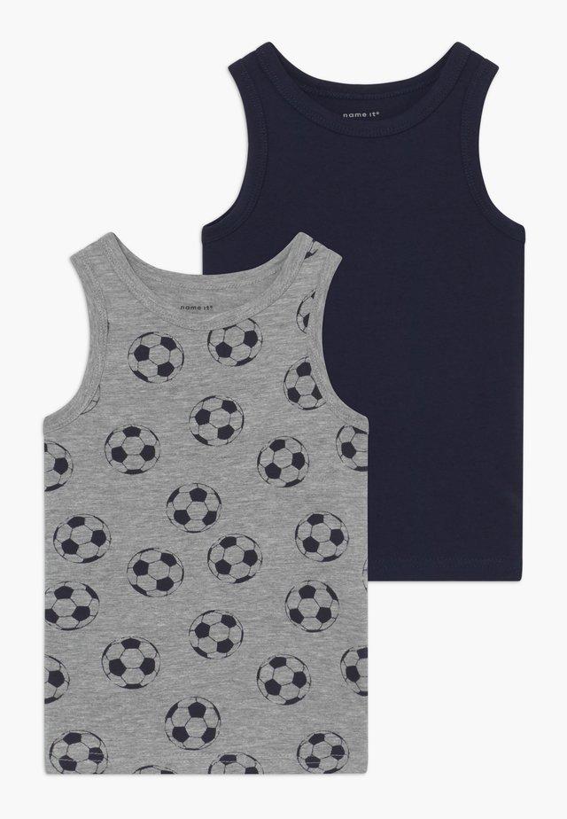 NMMTANK FOOTBALL 2 PACK - Unterhemd/-shirt - grey melange